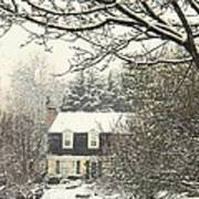 House In Snow Art Print