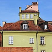 House In The Old Town Of Warsaw Art Print