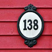 House Number. Art Print