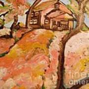 House On The Hill Art Print by Sidney Holmes