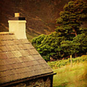 House On The Hills. Wicklow. Ireland Art Print