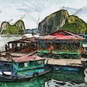House On The Sea Print by Teara Na