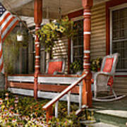 House - Porch - Traditional American Art Print by Mike Savad