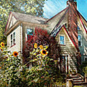House - Westfield Nj - The Summer Retreat  Art Print by Mike Savad
