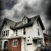 House With Brick Front - American Gothic Art Print