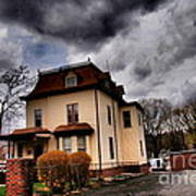 House With Storm Approaching Art Print