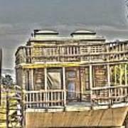Houseboat 2 Art Print