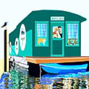 Houseboat Art Print