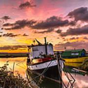 Houseboats On Velator Quay Art Print