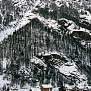 Houses In A Village In Winter, Tasch Art Print