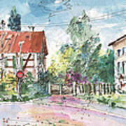 Houses In Soufflenheim Art Print