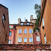 Houses In The Old Town Of Warsaw Art Print