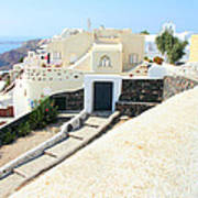 Houses Oia Santorini Art Print