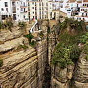 Houses On A Rock In Ronda Art Print
