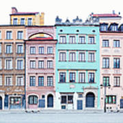 Houses On Old Town Market Place Art Print
