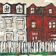 Houses On William Street Art Print