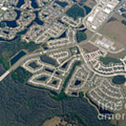 Housing Development Near Wetland Art Print