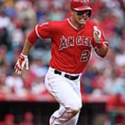 Houston Astros V Los Angeles Angels Of Art Print