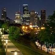 Houston At Night Art Print