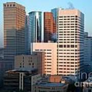 Houston Financial District Art Print