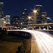 Houston Skyline At Dusk Art Print