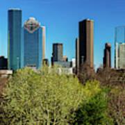 Houston Skyline, Houston, Texas Art Print