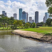 Houston Skyline On The Bayou Art Print