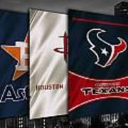 Houston Sports Teams Art Print