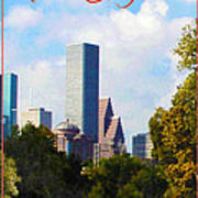 Houston The Bayou City Art Print