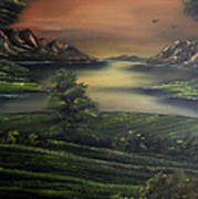How Green Is My Valley Print by Cynthia Adams