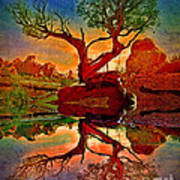 How One Tree Becomes Two Art Print