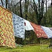 How To Dry An American Quilt Art Print