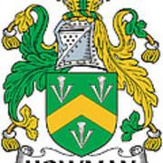 Howman Coat Of Arms Irish Art Print
