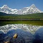 1m3643-howse Peak, Mt. Chephren Reflect Art Print