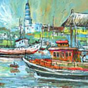 Howth Harbour 01 Art Print
