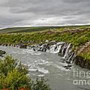 Hraunfossar Waterfall In Iceland Art Print