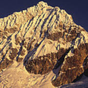 Mt Huandoy Sunrise Cordillera Blanca Art Print