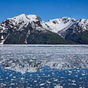 Hubbard Glacier Mountain Reflection Art Print