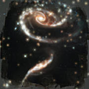 Hubble - Rose Made Of Galaxies Art Print