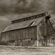 Huber Ferry Barn Osage County Mo Dsc00720 Art Print