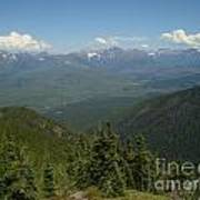 View Of The Rockies From Huckleberry Mountain Glacier National Park Art Print