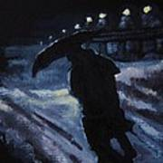 Huddling Through The Storm Art Print
