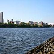 Hudson River And Albany Skyline Art Print