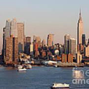 Hudson River And Manhattan Skyline I Art Print