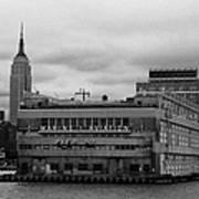 Hudson River Marine Aviation Pier 57 New York City Art Print