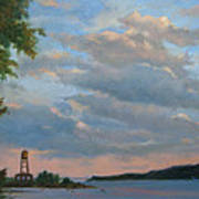 Hudson River Skyscape  Art Print