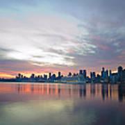 Hudson River Sunrise Nyc Art Print