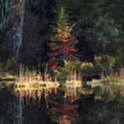 Huff Lake Reflection Art Print