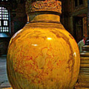 Huge Marble Jar Cut From One Piece Of Marble In Saint Sophia's I Art Print