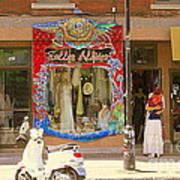Hugs At Les Folles Allies Vintage Couture Friperie Farewell Goodbye Mont Royal City Scene C Spandau  Art Print